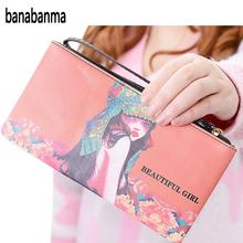 banabanma Women Cute Coin Purse Portable Zippered PU Leather Wallet Multiple Cartoon Patterns for Choice NEW HOT ZK30(China)