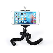 black mini flexible Camera Phone Holder Flexible Octopus Tripod Bracket +Stand Holder Mount Monopod Accessories