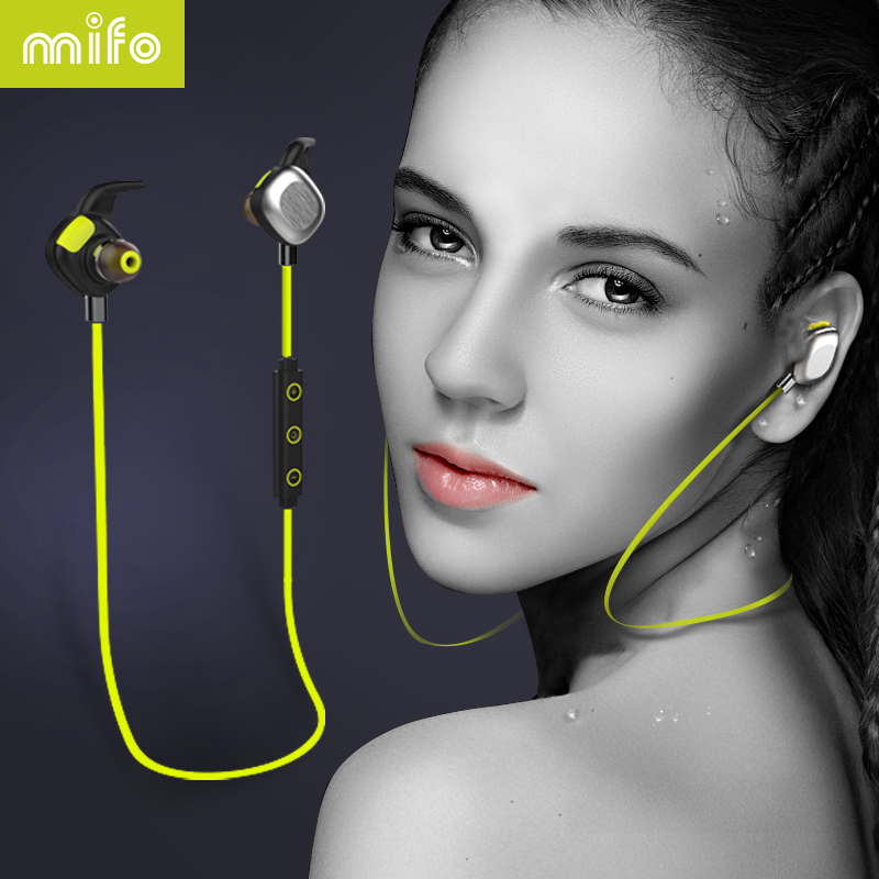 mifo U5 PLUS Waterproof IPX7 Headset Sweatproof Bluetooth Earphones Stereo Microphone HIFI Magnetic NFC Long Working Time <br>