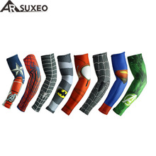 ARSUXEO Cycling Sleeves Printed Armwarmer MTB Bike Bicycle Sleeves Arm warmer UV Protection Sleeves Ridding Arm Sleeves XTN02(China)