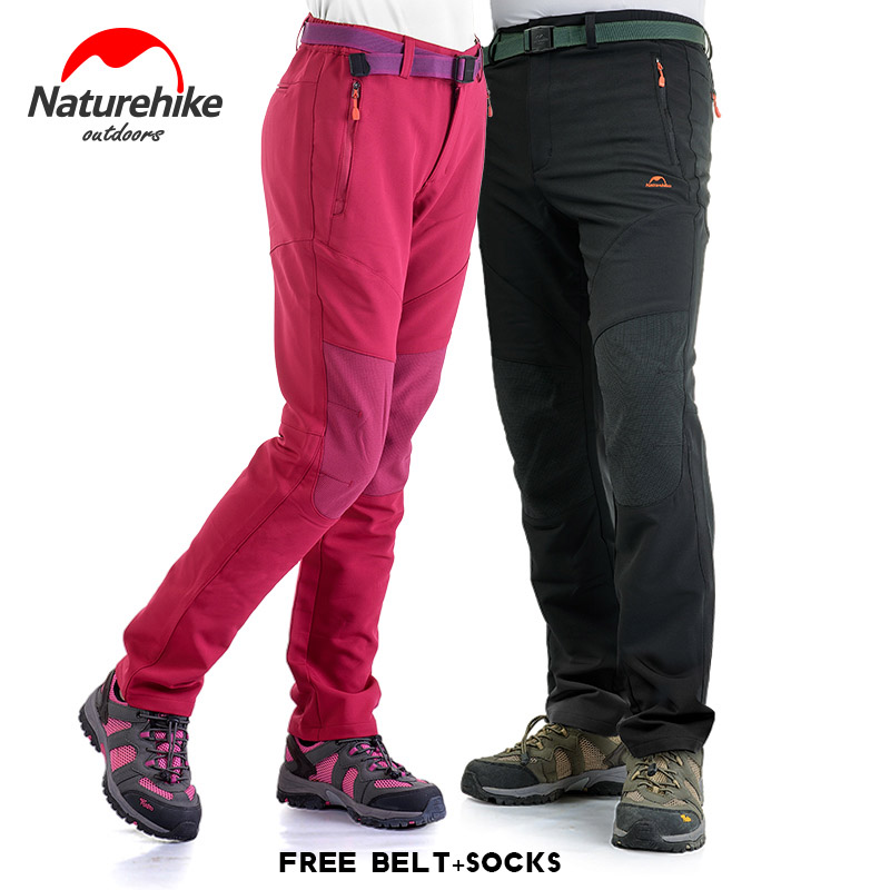 Outdoor Men Women Soft shell Pants mountaineering Trousers winter warm full length pants breathable Wearable charge loose pants<br>