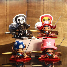 One Piece Figure Toy, 10cm PVC One Piece Chopper Action Figure Model Toys For Collection, Anime Brinquedos, 4pcs/lot