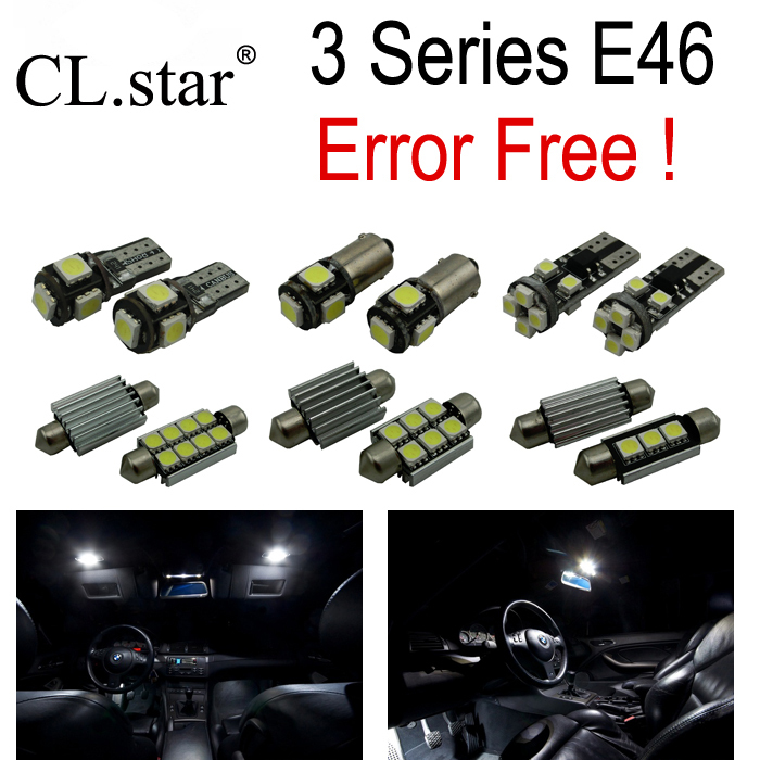 17pc X Canbus Error Free  LED Bulb Interior Light Kit  for bmw E46 M3 318i 323i 325i 328i 330i (1999-2005)<br><br>Aliexpress