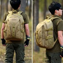 Tactical Daypack MOLLE Assault Backpack Pack Military Gear Rucksack Large Waterproof Camping Hiking Sport Outdoor Bags 40L
