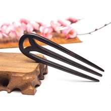 Hair Jewelry Hand-Carved Wood Sticks Hairpins U Shape Ebony Bridal Headwear hair comb hair  accessories hair ornaments