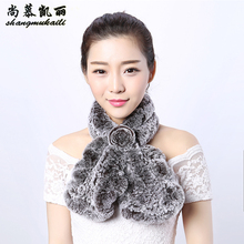 Ladies Scarf Natural fur Women Genuine Fur Scarves Lady Rex Rabbit Fur Winter Real Fur Neck warmer Multicolor Natural hair Wraps