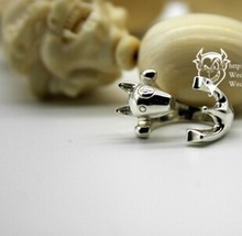 1PCS newest cute UK Bull Terrier Ring free size cartoon animal  Bull Terrier dog Ring jewelry Designed for lady