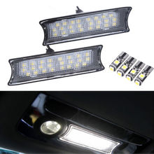 1 Pair White 24 LED Light Car Interior Roof Dome Ceiling Lamp Bulb For BMW E90 E91 E92 Daytime Running Light Auto Accessories