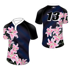 Customized Sportswear Ladies Female Sublimation Custom Rugby Jersey Cheap DIY Printing Mens Rugby Shirts For Rugby Ball Match
