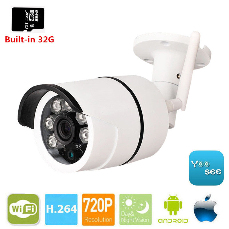 MSeeAD HD 720P IP Camera WiFi outdoor Security Camera Built-in SD 32G CCTV Camera Motion Detection Waterproof IR Night Vision<br>
