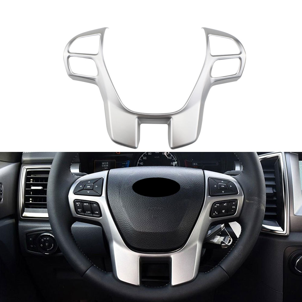2PCS Stainless Console Side Decorative Frame Trim For Ford Explorer 2016-2017