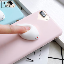 3D silicon Cartoon Animal Cute Sea Lion Candy Color for iPhone 5 5s SE Cases phone Cases For iphone 6 6s 6 plus 7 7Plus Soft TPU