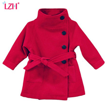 LZH 2017 Autumn Winter Baby Girls Jacket For Girls Trench Coat Jacket Kids Warm Overcoats Children Outerwear Coat Girls Clothes