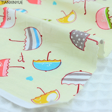 Four size choose Cartoon Umbrella Fabric Saliva towel Cotton Fabric DIY Patchwork Sewing  FARBIC baby Cloth and hat fabric