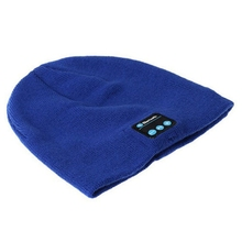 Warm Beanie Hat Wireless Bluetooth Smart Cap Headset Speaker Mic blue Only bluetooth hat(China)