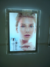 Manufacture poster frame led advertisement crystal lightbox(China)