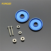 POPIGIST Mini 4wd 19mm Aluminum Rollers Self-made Parts For Tamiya MINI 4WD 19mm Colored Aluminum Guide -Wheel D002 2sets/lot(China)
