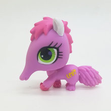 Original 1pc LPS cute toys Lovely Pet shop animal Pink Anteater Green eyes action figure littlest doll
