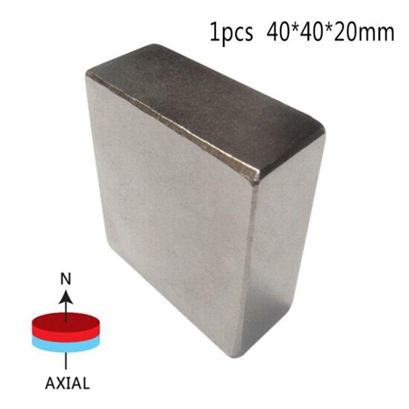 1Pcs Block 40x40x20mm Super Powerful Strong Rare Earth Block NdFeB Magnet Neodymium N52 Magnets YG58<br><br>Aliexpress