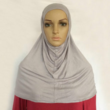 New Style jersey 2 Piece Amira Hijab Muslim scarf(China)