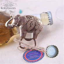 DHL FREE SHIPPING 100PCS Good Luck Elephant Bottle Opener Wedding Favors Party Reception Decoration Ideas Souvenirs Gifts