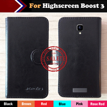 Highscreen Boost 3 Case Factory Price 6 Colors Fashion Slip Leather Exclusive Case For Highscreen Boost 3 Protective Phone Cover