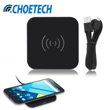 CHOETECH Universal Wireless Charger 7.5W Wireless Charging Pad Qi Charger For iPhone 7 8 6 For Samsung S8 For Xiaomi + USB Cable(China)