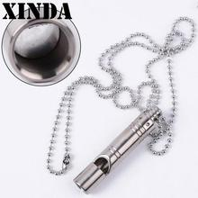 Xinda Titanium Alloy TC4 Whistle Outdoor Camping Emergency Survival High Frequency Camping Whistle Popping Animal Training YFY61(China)