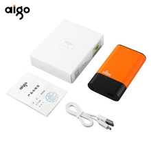 Buy Aigo power bank 10000mah QC01 Quick Charge power bank Portable Mobile Phone PowerBank external battery iPhone Samsung for $28.08 in AliExpress store