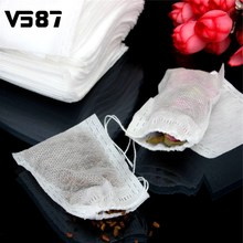 Tea Infusers 100Pcs/lot 6*8cm Corn Fiber Tea Bags Filters Biodegraded Quadrangle Pyramid Heat Sealing Filter Bags Drinkware