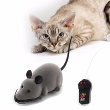 Novelty Gift Mice Electronic RC Rat Toy Cat-Toy Mice Wireless Electronic Remote Control Mouse With Flash Electric Simulation(China)