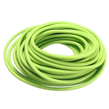 PROMOTION!Tubing Exercise Rubber Resistance Band Catapult Dub Slingshot Elastic, Green 2.5M(China)