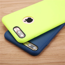 Buy Solid Candy Color Phone Cases iPhone 7 6 6s Plus 5 5s SE Case Ultra Thin Durable Soft TPU GEL Silicone Back Cover Funda Capa for $1.19 in AliExpress store