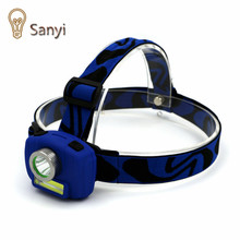 Sanyi Super Bright Mini LED Headlamp 3Modes Energy Saving Outdoor Sports Camping Fishing Head Lamp Flashlights USE 3 AAA battery
