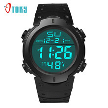 OTOKY Hot Selling Fashion Waterproof Men's watch LCD Digital Stopwatch relogio Date Rubber Sport Wrist Watch Gift 1pcs Dec 29