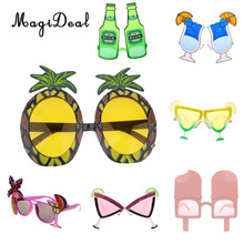 MagiDeal Novelty Plastic Hawaiian Beach Sunglasses Pineapple Goggles Hens Night Stag Party Fancy Dress