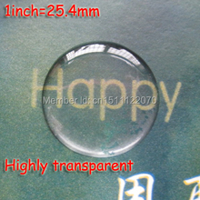 "100Pcs/Lot 1"" 25.4mm Clear Circle Epoxy Dome Sticker Highly Transparent 3D Crystal Resin Cabochon Label Never Yellowing"