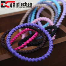 10pcs/lot mixed colors no-damage elastics ponytail holders for girls stretchy hair rubber band hair acceesories free shipping