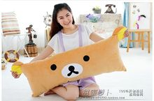 lovely bear stuffed pillow doll bear pillow relaxed bear cushion bear large Rilakkuma pillow plush toy t9777(China)