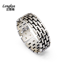 Fashion male 925 silver ring thai silver opening pinky ring,vintage grids,personality accessories girls/boys cool accessories