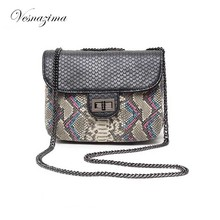 VESNZIMA serpentine ladie's handbags mini bags for lady female bags on a chain orange gray shoulder bags for girl VZ106ZN bolsos