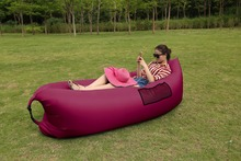 Air Sofa Inflatable Lazy Bag Sleeping Bag Camping Air Sofa Waterproof Beach Bed Laybag Lounger Chair Couch Air Bed Free Shipping