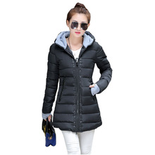 Cheap wholesale 2016Spring Winter Hot sale Down cotton Women's Fashion Warm Ladies Work wear waterproof winter thick slim Jacket