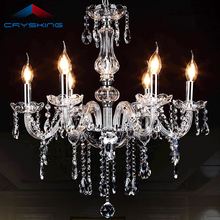 2017 Free Shipping 6 Arms Chandelier Crystal Lustre Light , Bestselling in Brazil and Russia  (B CCDC-002-6) D550mmXH600mm