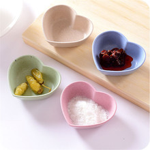 Creative Lovely Heart Shape Fruit Snack Sauce Bowl Kids Feed Food Icecream Container Tableware Dinner Plates(China)