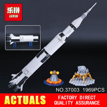1969Pcs Lepin 37003 Creative Series The Apollo Saturn V Launch Vehicle Set Children Building Blocks Bricks Educational Toy 21309(China)