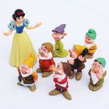 8pcs Princess Snow White and Seven Dwarfs Action Figure Set Cute PVC Action Figures Toys Collection Model Toy Gift for Kids Girl