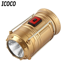 ICOCO Super Bright Lightweight LED Camping Lantern Outdoor Portable Flashlight Telescopic Design Waterproof Energy Saving Lamp(China)