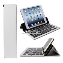 High Quality Portable Foldable Bluetooth Aluminum Keyboard for iPad Asus for Google Dell HP Lenovo Samsung Sony - White