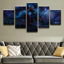 Canvas HD Printed Picture 5 Pieces Game DotA 2 Poster Home Decor Picture On Canvas Room Wall Art Modern Home Decoration Wall